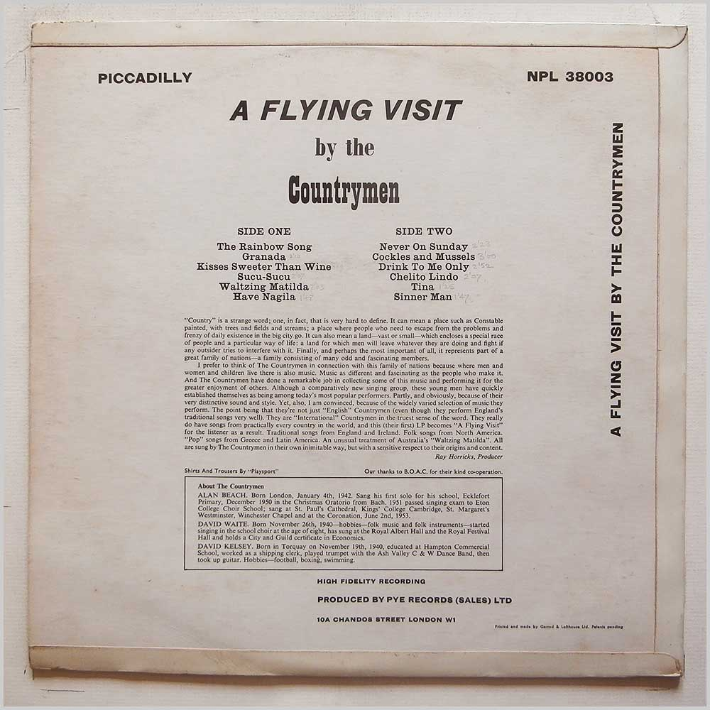 The Countrymen - A Flying Visit (NPL 38003)