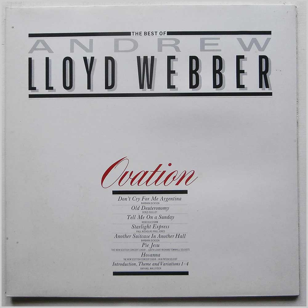 Andrew Lloyd Webber - Ovation: The Best Of Andrew Lloyd Webber (ONE 1311)
