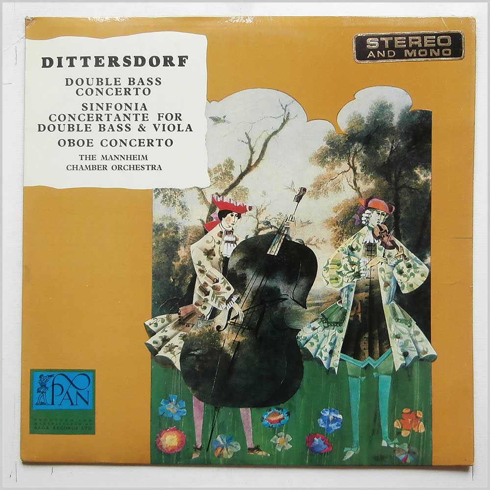 The Mannheim Chamber Orchestra - Dittersdorf: Double Bass Concerto, Sinfonia Concertante For Double Bass and Viola, Oboe Concerto (PAN 6002)