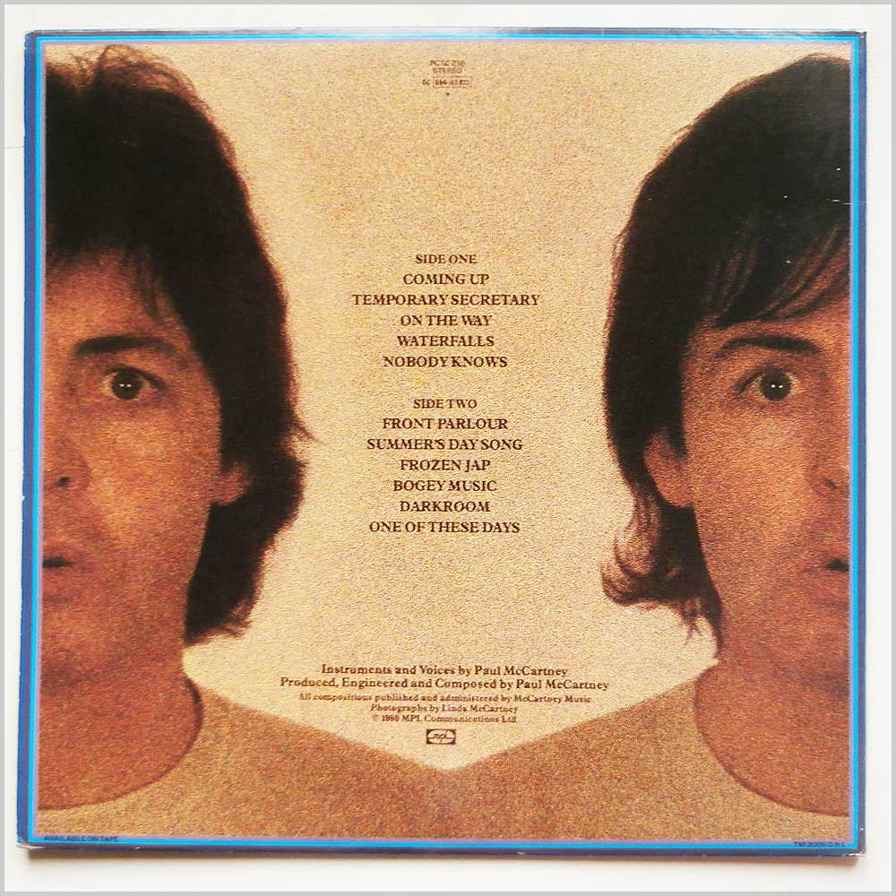 Paul McCartney - McCartney II (PCTC 258)
