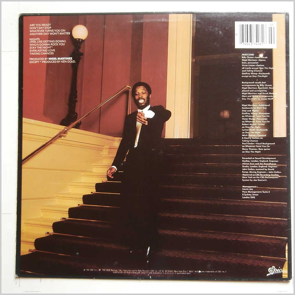 Billy Ocean - Nights (Feel Like Getting Down) (PE 37406)