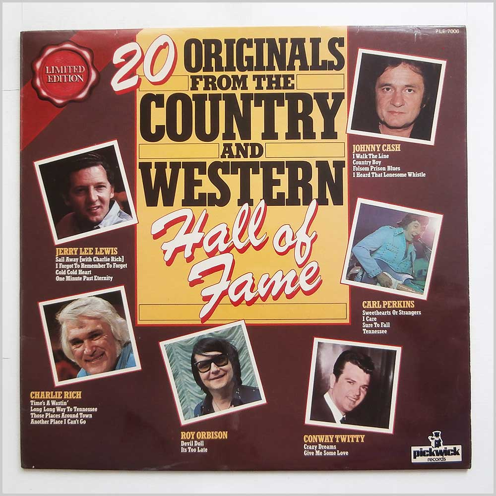 Various - 20 Originals From The Country And Western Hall Of Fame (PLE 7006)