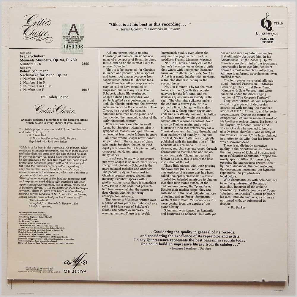 Classical Classical Music Record LP for sale - RecordsMerchant