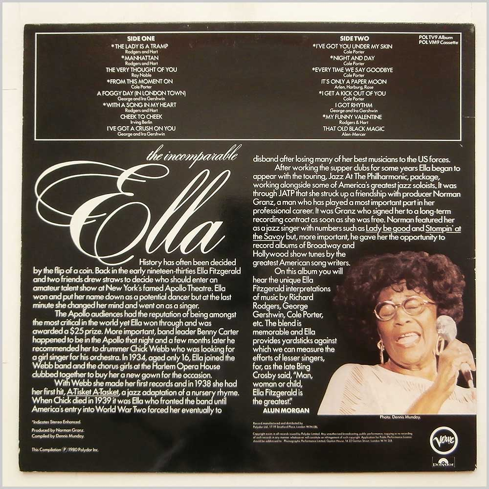 Ella Fitzgerald - The Incomparable Ella (POLTV 9)