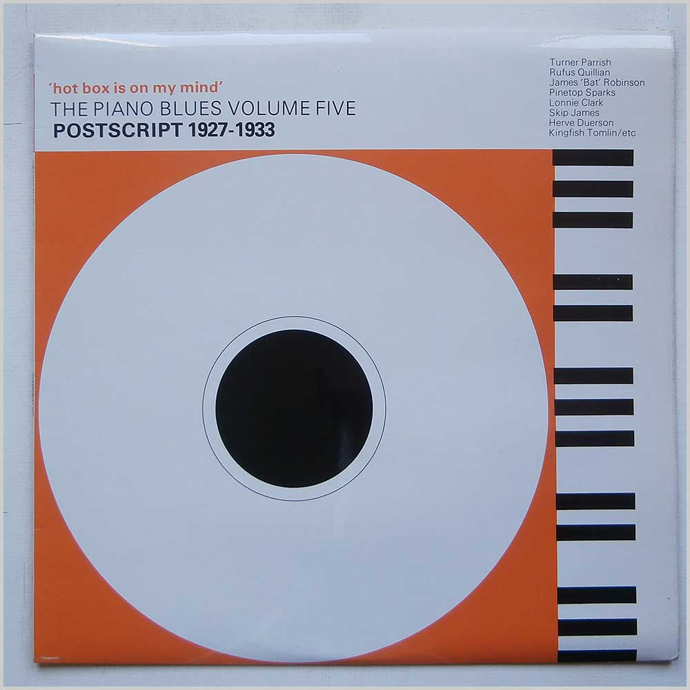 Various Hot Box Is On My Mind: The Piano Blues Volume 5: Postscript 1927-1933