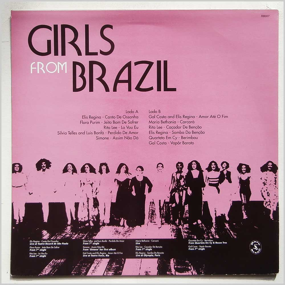 Various - Girls From Brazil: Unreleased, Rare and Live Performances Vol 1 (RB007)