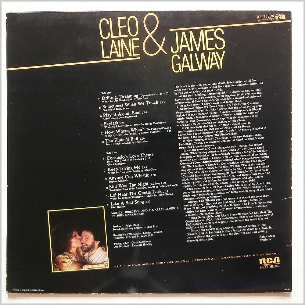 Cleo Laine and James Galway - Sometimes When We Touch (RL 25296)