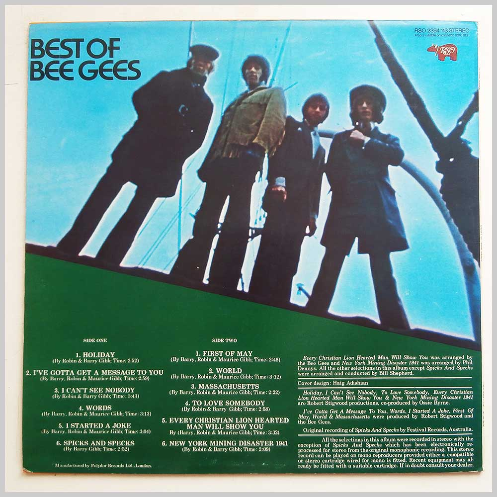 The Bee Gees - Best Of The Bee Gees (RSO 2394 113)