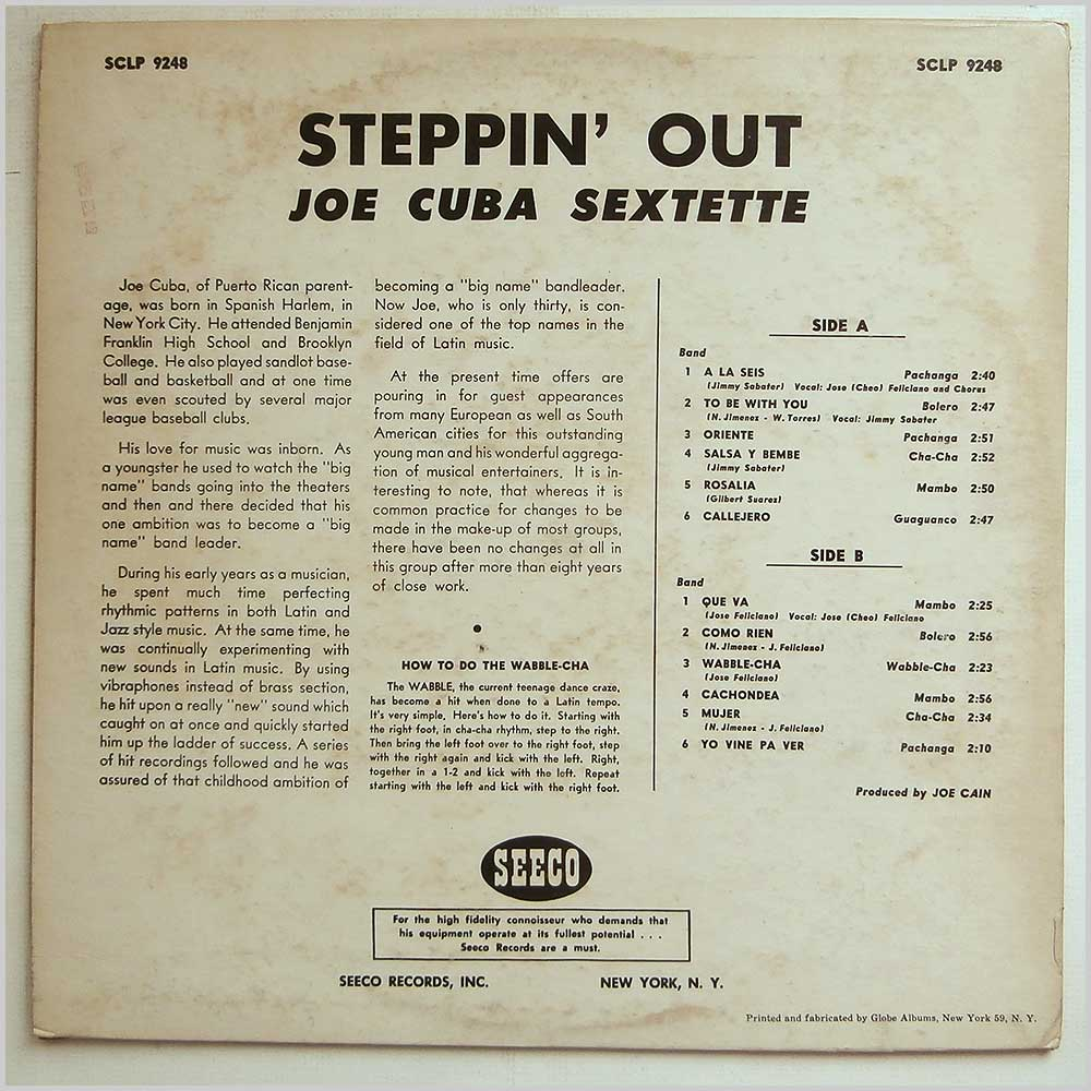 Joe Cuba Sextette - Steppin Out (SCLP 9248)