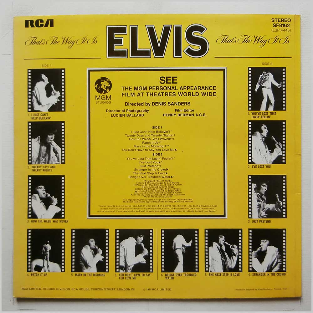 Elvis Presley - That's The Way It Is (SF 8162)