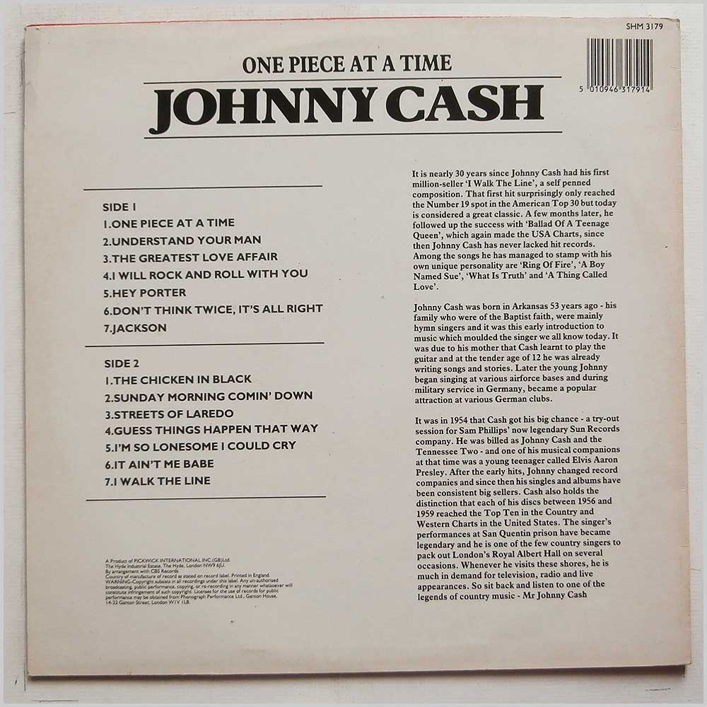 Johnny Cash - One Piece At A Time (SHM 3179)