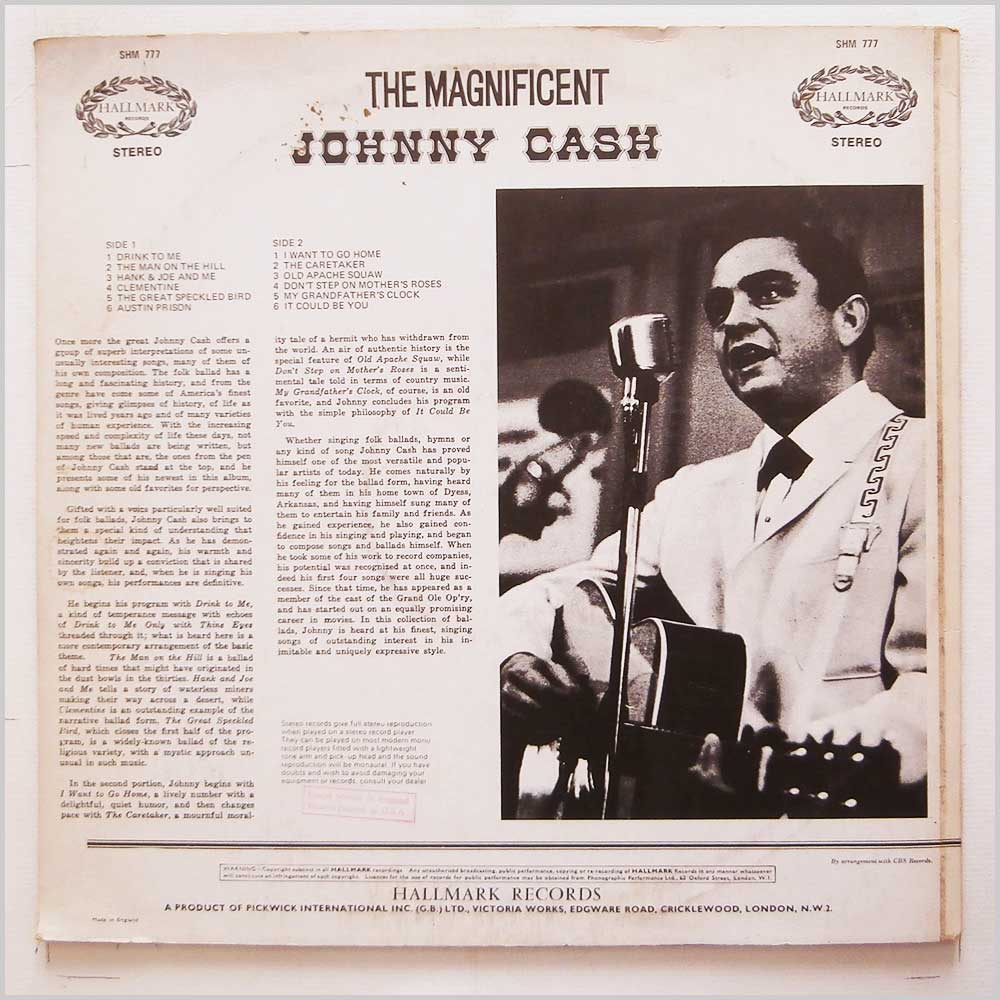 Johnny Cash - The Magnificent Johnny Cash (SHM 777)
