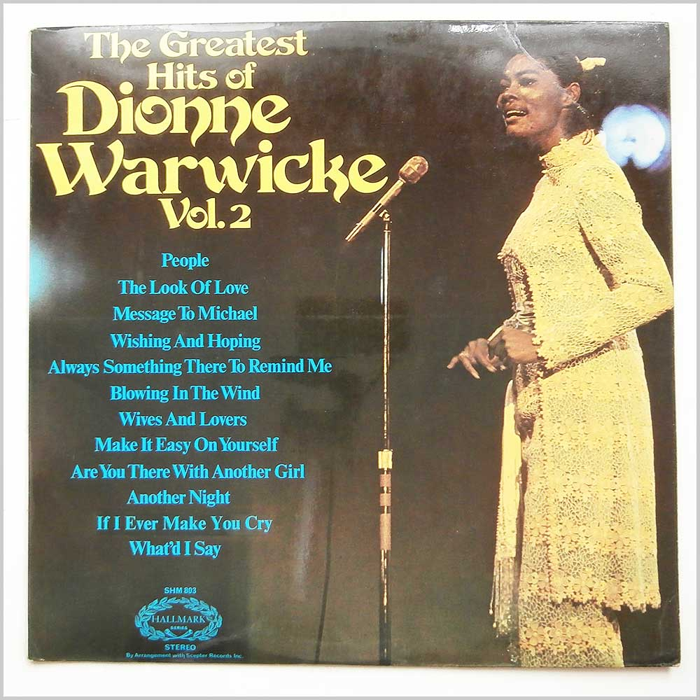 Dionne Warwick - The Greatest Hits Of Dionne Warwick Vol 2 (SHM 803)