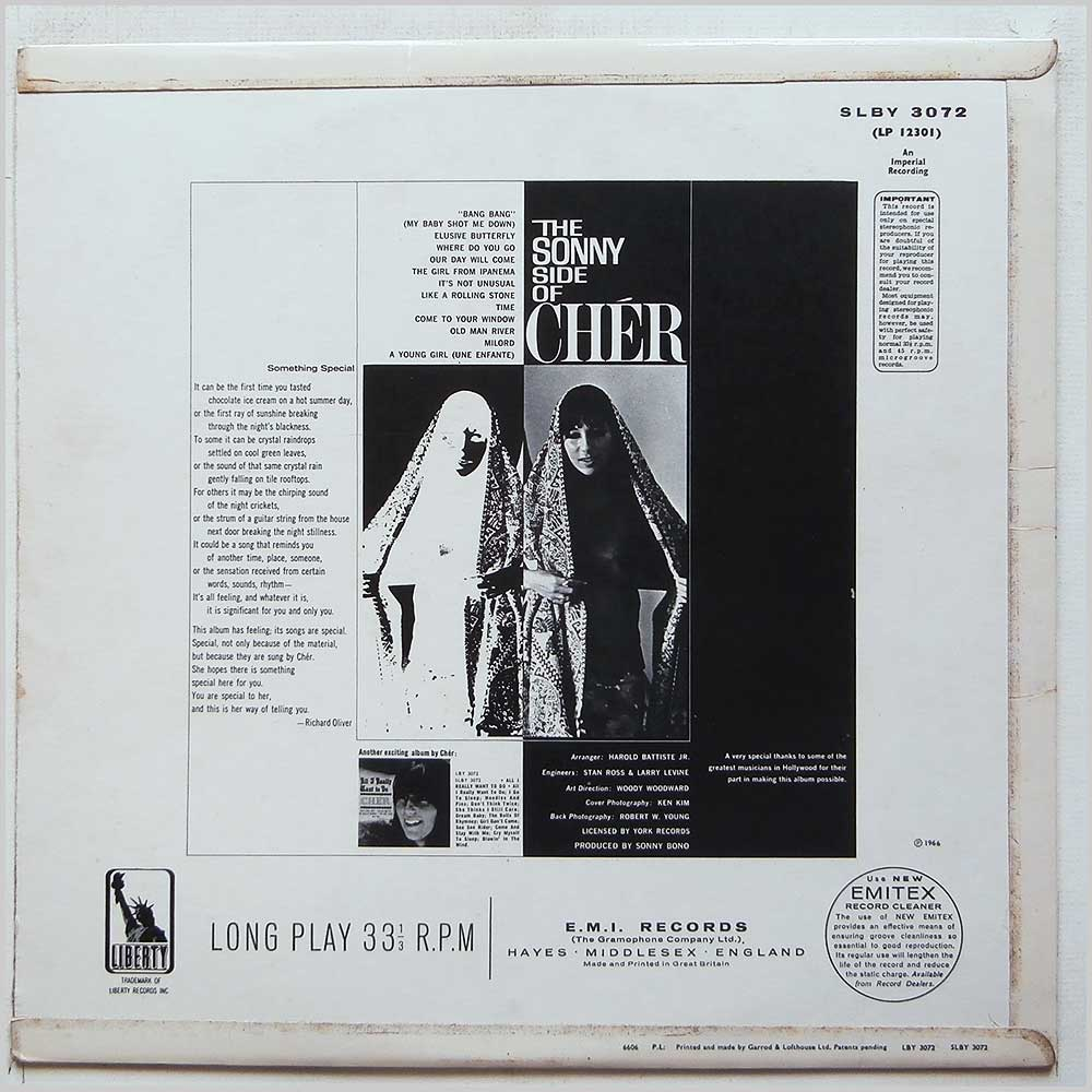 Cher - The Sonny Side Of Cher (SLBY 3072)