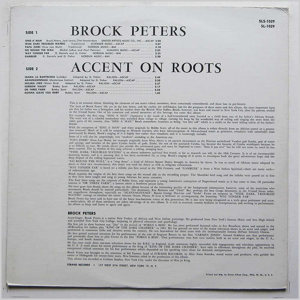 Brock Peters - Accent On Roots (SLS-1029)