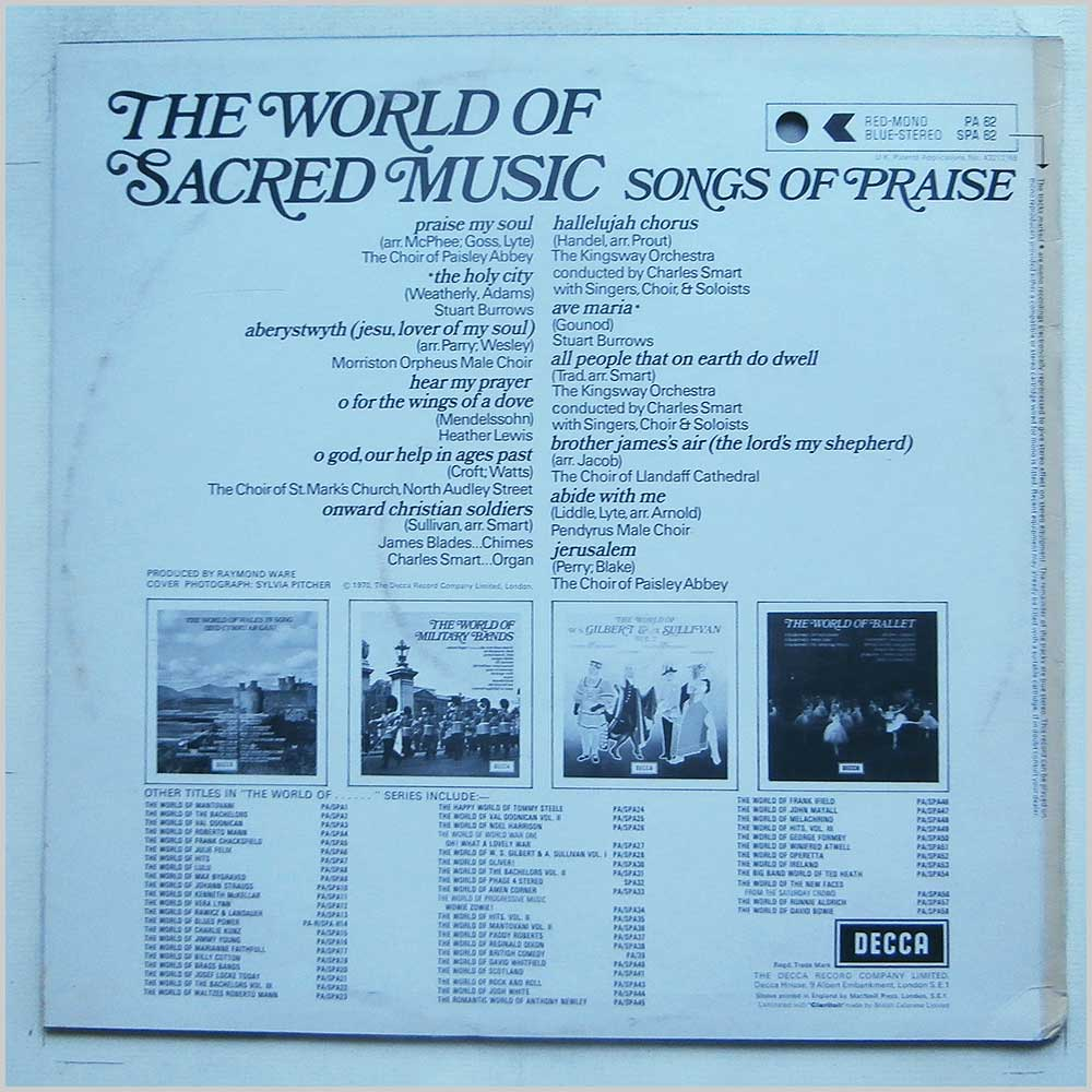 Various - The World Of Sacred Music Songs Of Praise (SPA 62)