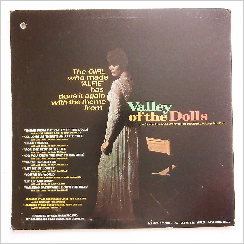 Dionne Warwick - Valley Of The Dolls (SPS 568)