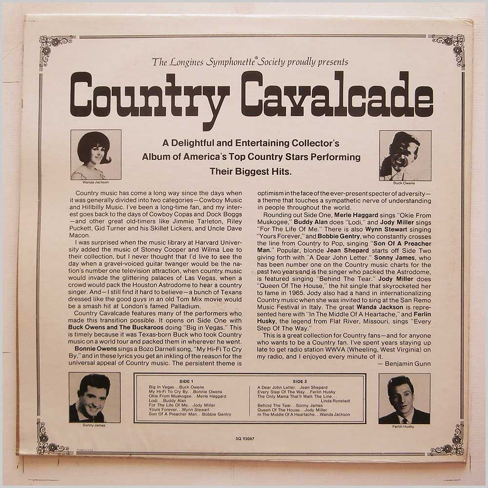 Various - Country Cavalcade (SQ 93087)