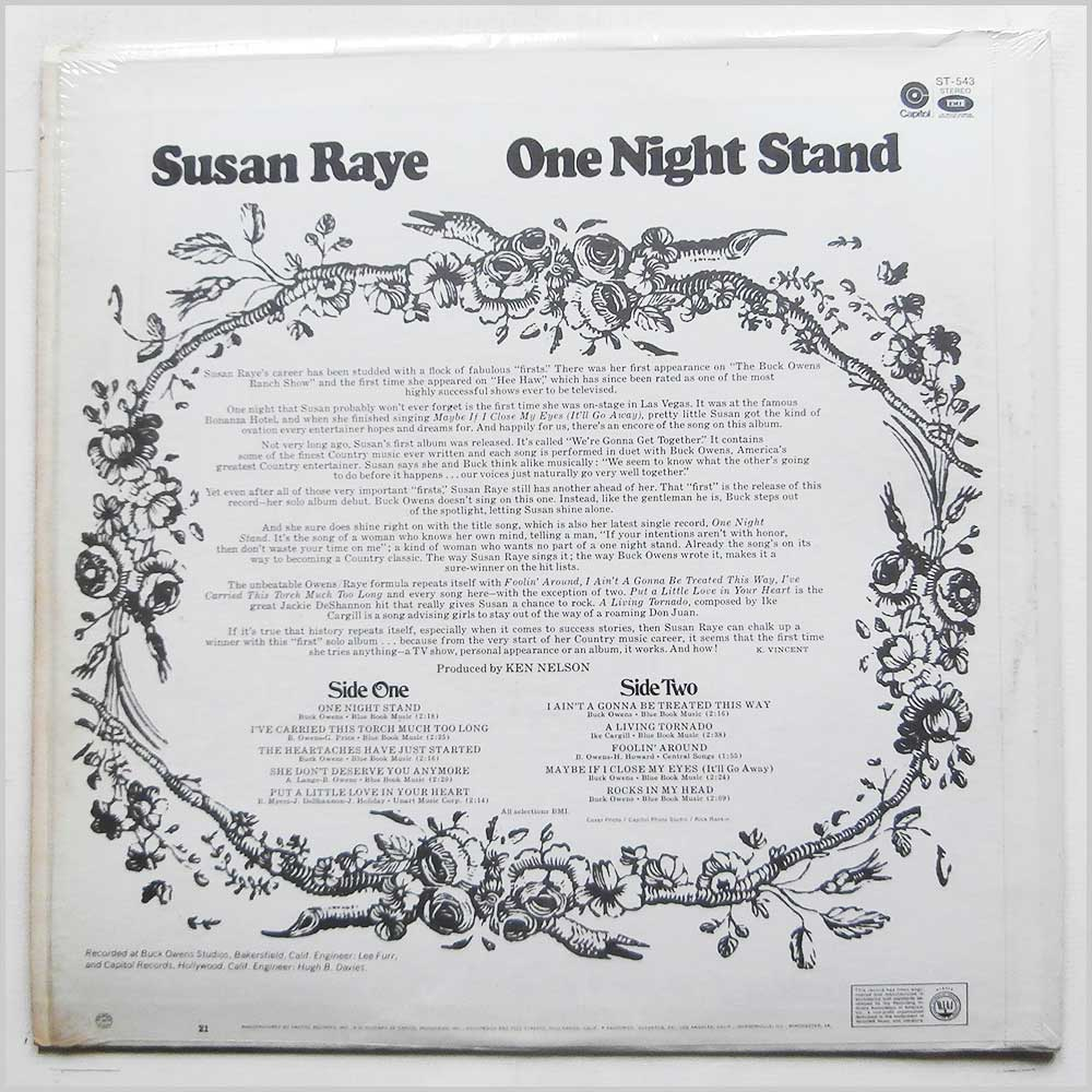 Susan Raye - One Night Stand (ST-543)