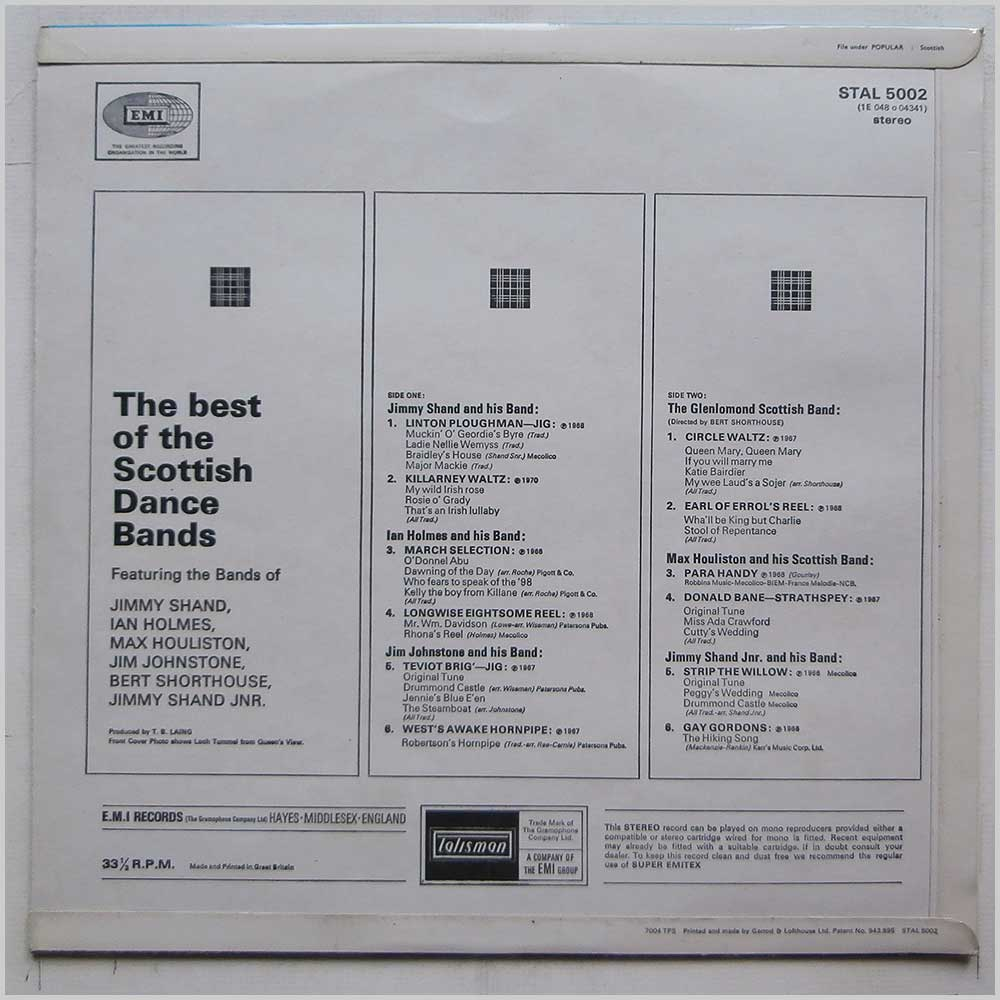 Various - The Best Of The Scottish Dance Bands (STAL 5002)