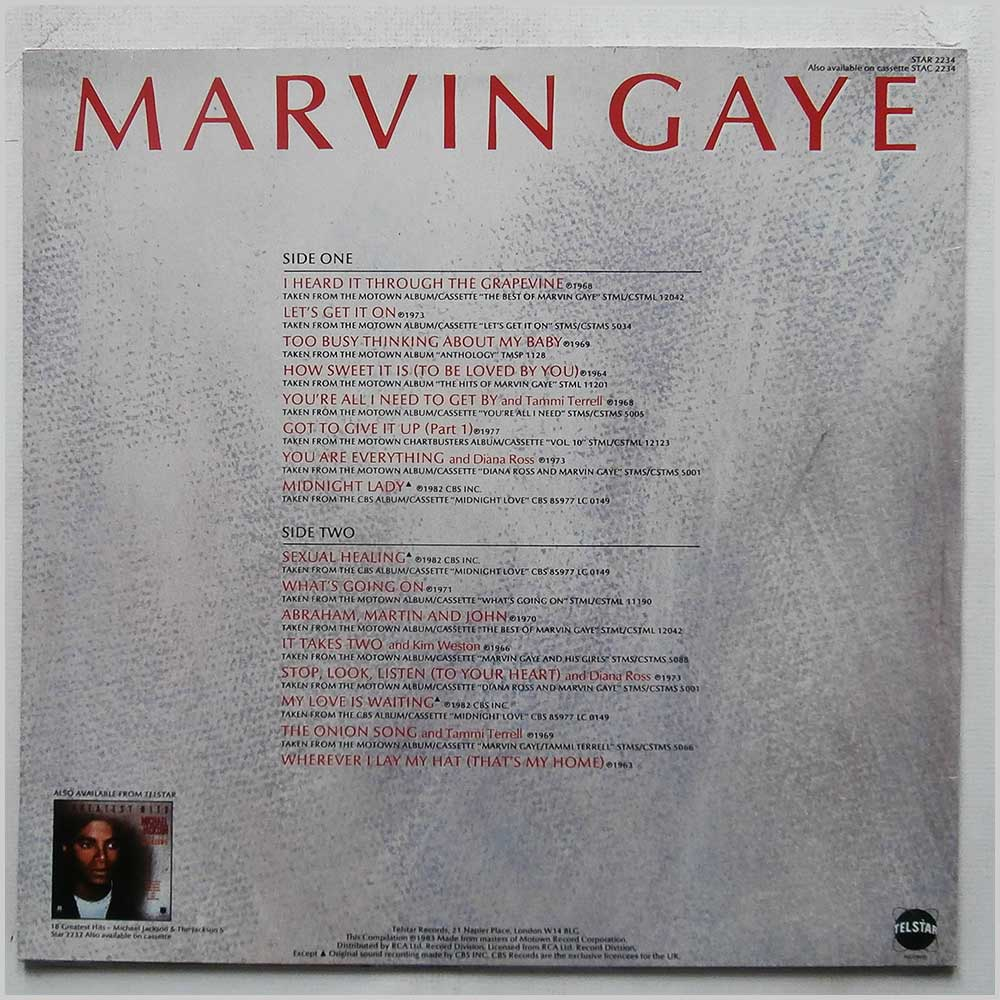 Marvin Gaye - Greatest Hits (STAR 2234)