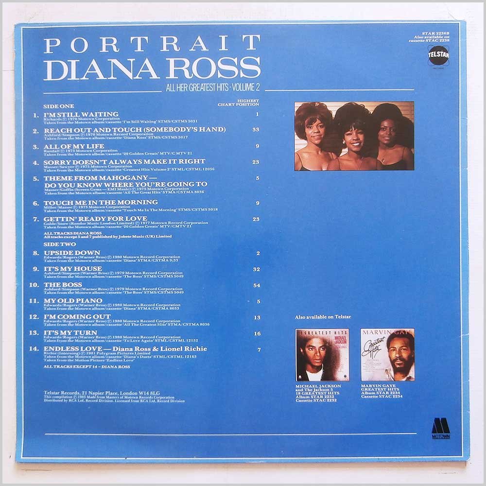 Diana Ross - Portrait: All Her Greatest Hits Volume 1 and Volume 2 (STAR 2238AB)