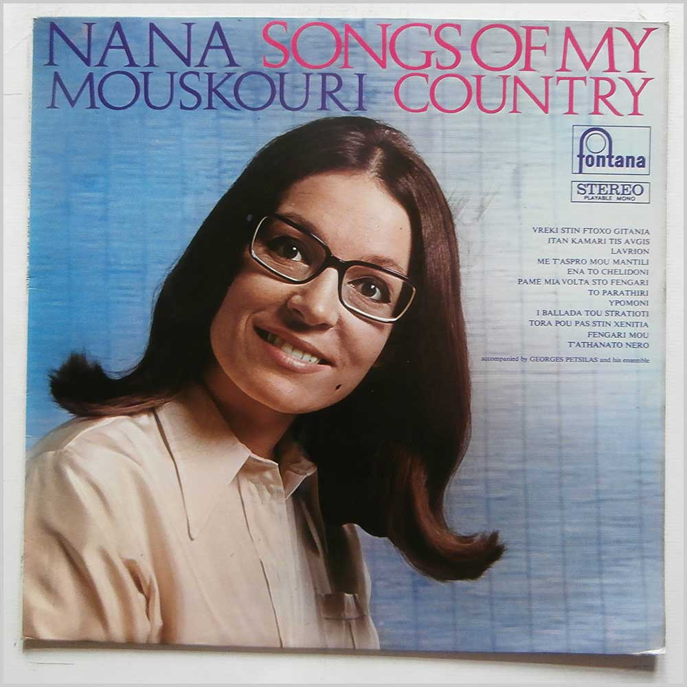 Nana Mouskouri - Songs Of My Country (STL5481)