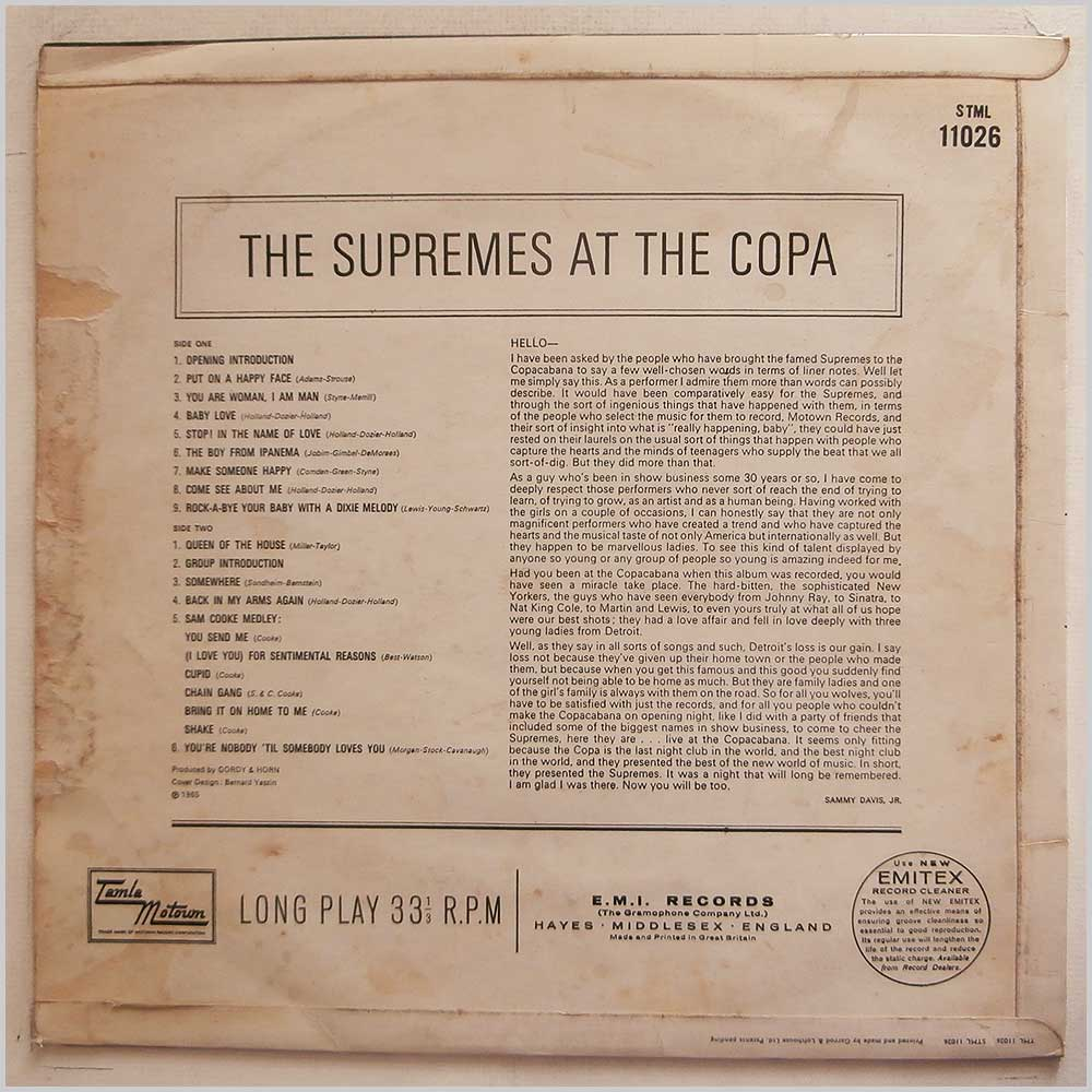 The Supremes - The Supremes At The Copa (STML 11026)