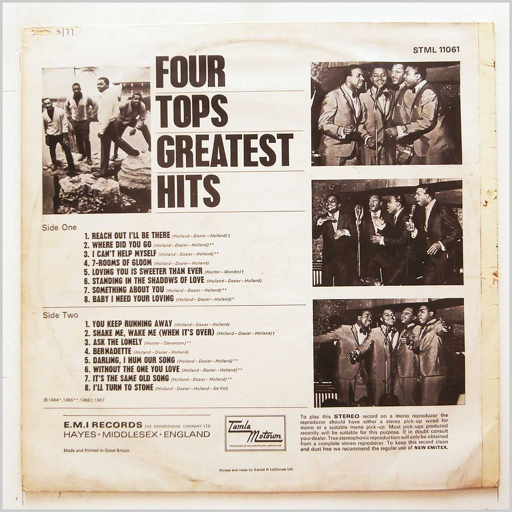 Four Tops - Greatest Hits (STML 11061)