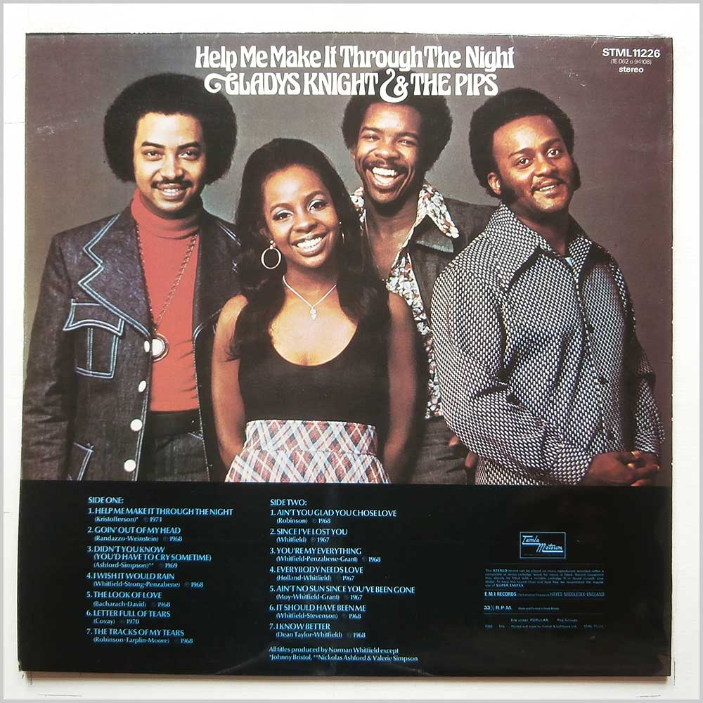 Gladys Knight and The Pips - Helps Me Make It Through The Night (STML 11226)