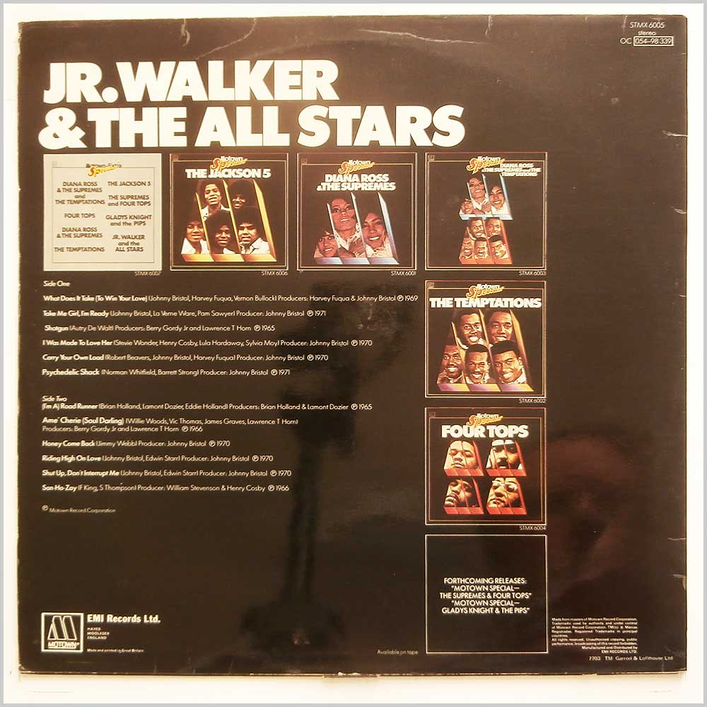 Jr. Walker and The All Stars - Motown Special (STMX 6005)