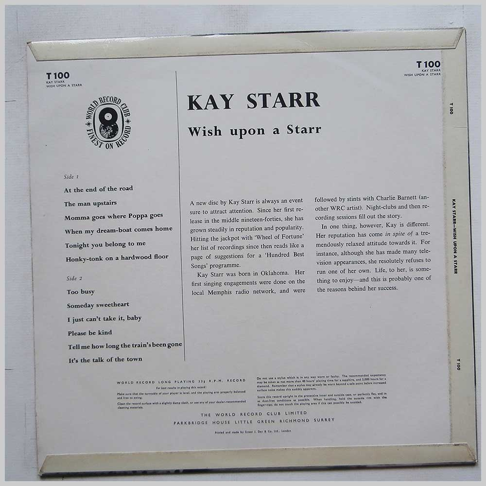 Kay Starr - Wish Upon As Starr (T 100)