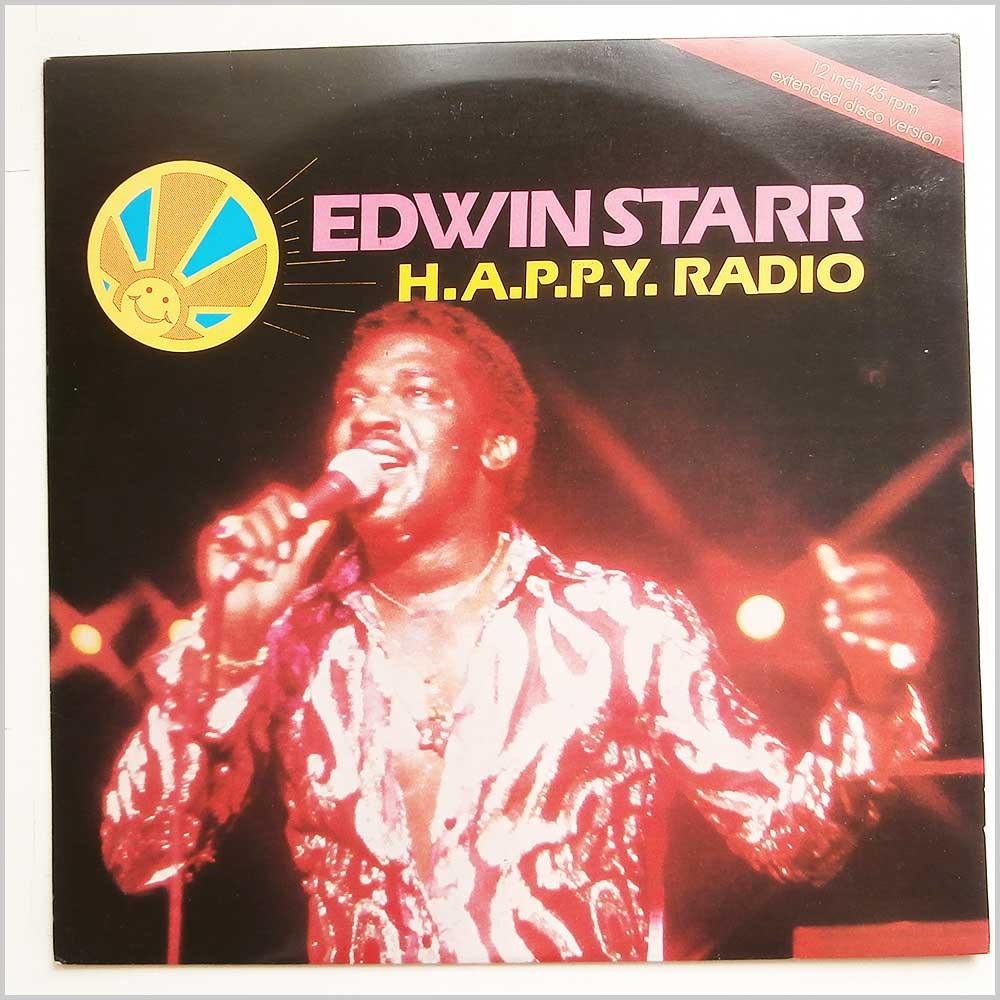 EDWIN STARR - H.A.P.P.Y. Radio - 12 inch 45 rpm