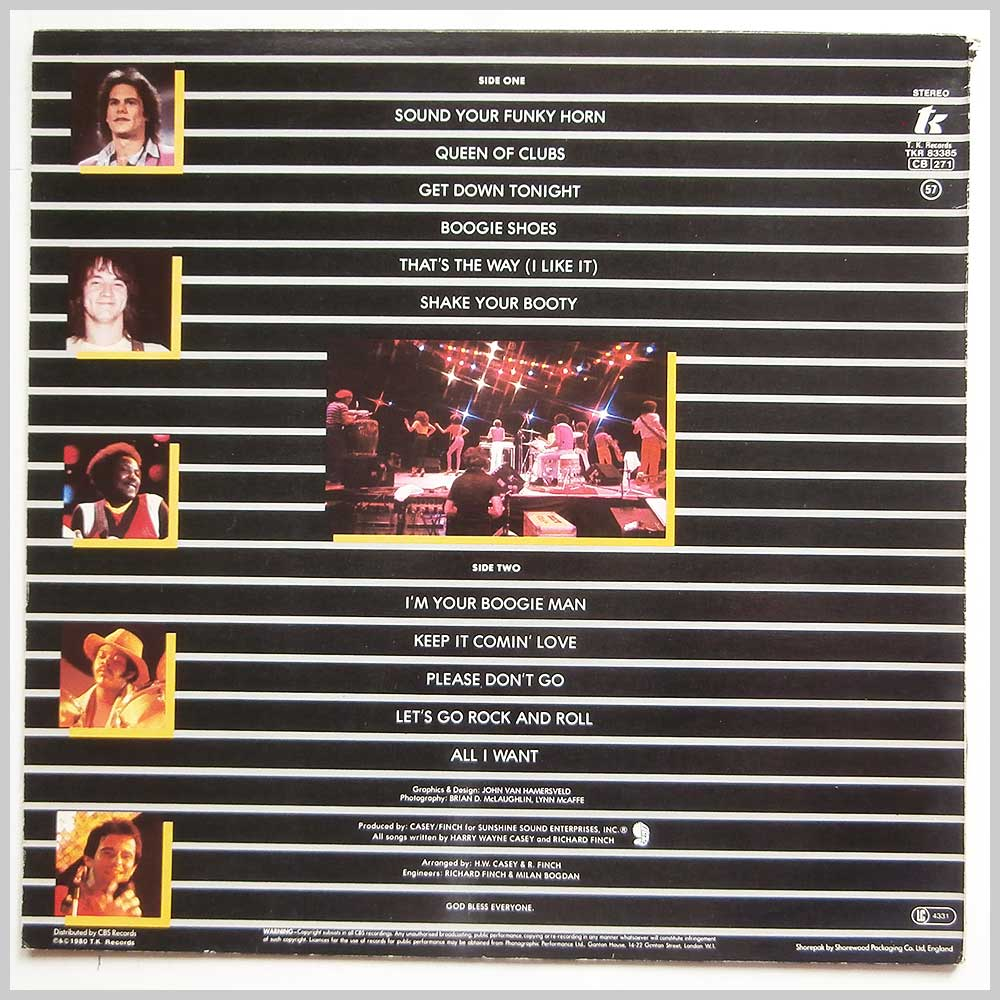 K.C. and The Sunshine Band - Greatest Hits (TKR 83385)