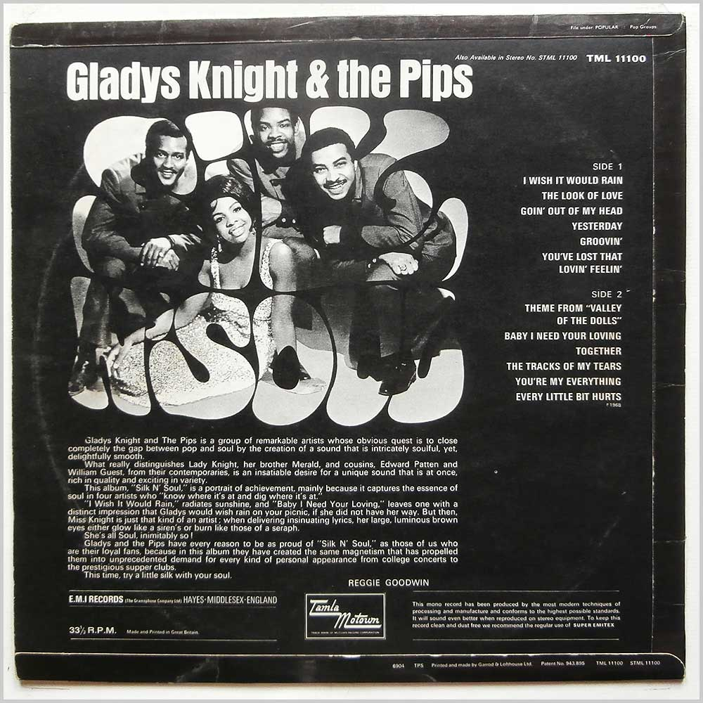Gladys Knight and The Pips - Silk N' Soul (TML 11100)