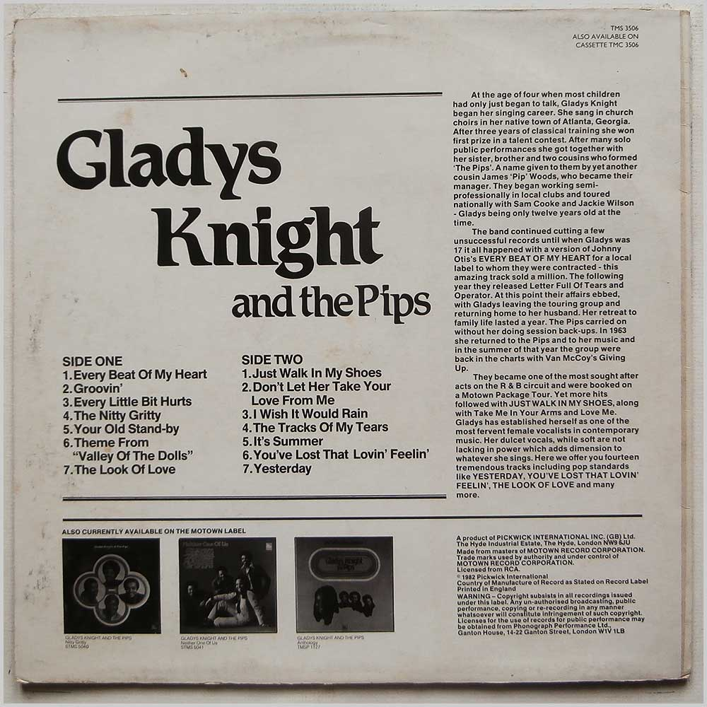 Gladys Knight and The Pips - Every Beat Of My Heart (TMS 3506)