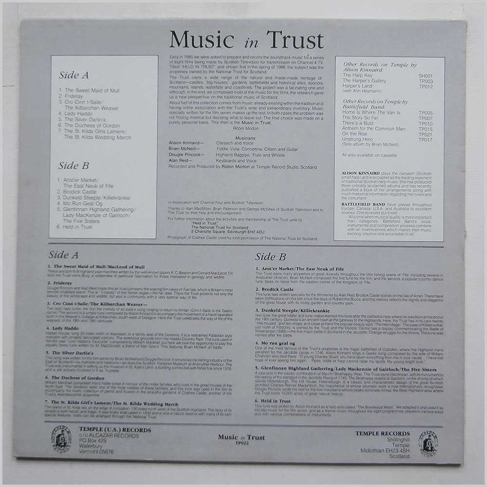 Battlefield Band and Alison Kinnaird - Music In Trust (TP 022)