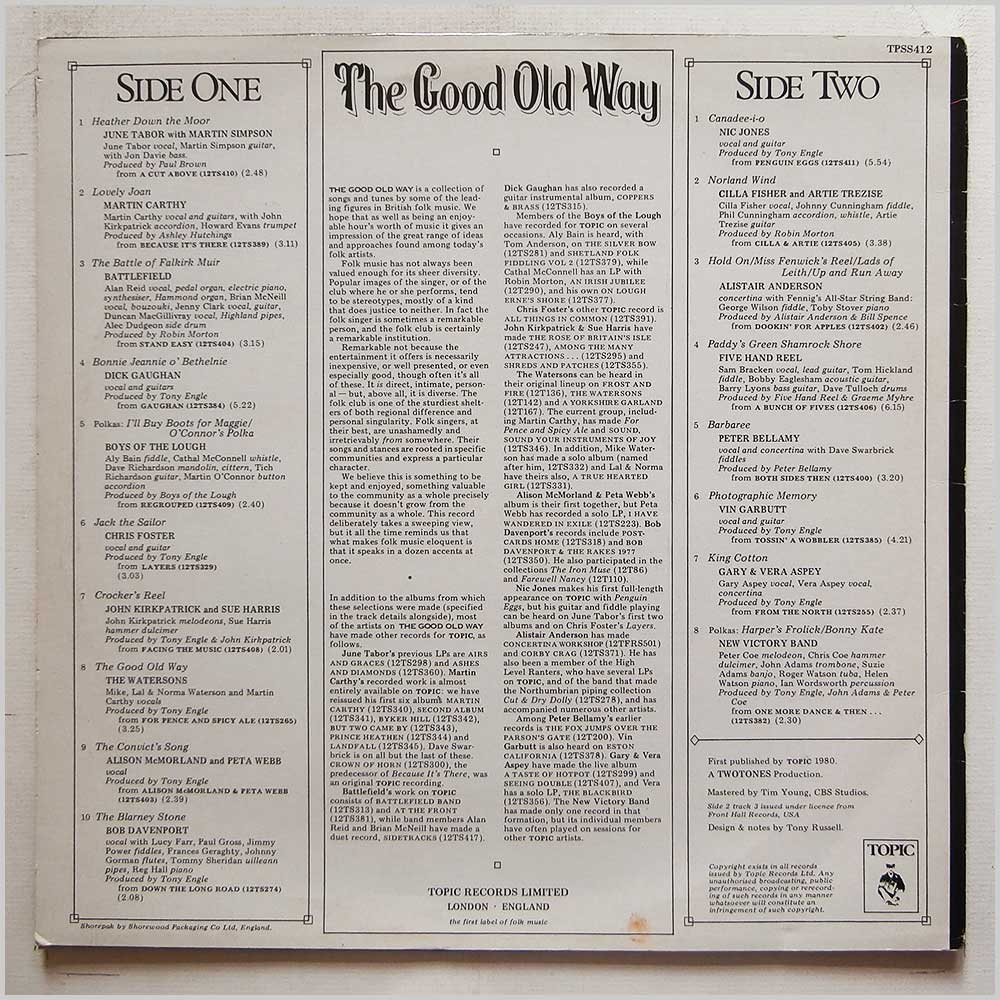 Various - The Good Old Way: British Folk Music Today (TPSS412)