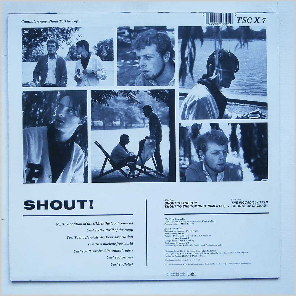 The Style Council - Shout To The Top (TSCX7)