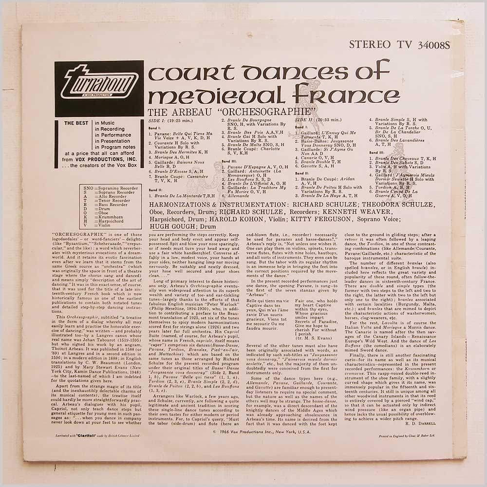 Turnabout-Records Classical Music Record LP for sale
