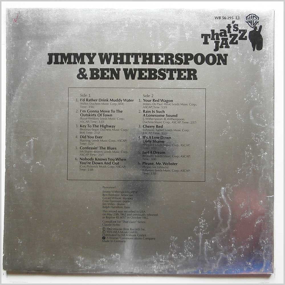 Jimmy Whitherspoon and Ben Webster - That's Jazz (WB 56 295)