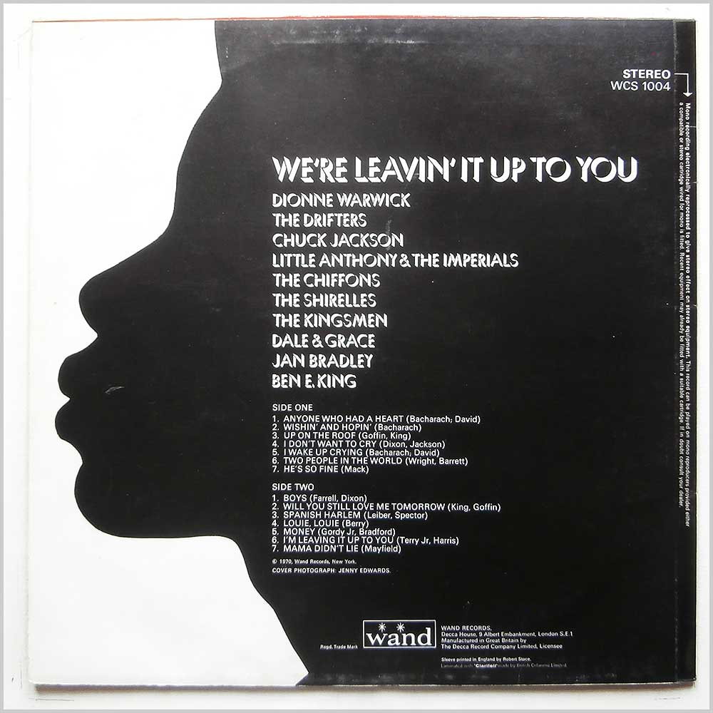 Various - We're Leavin' It Up To You (WCS 1004)