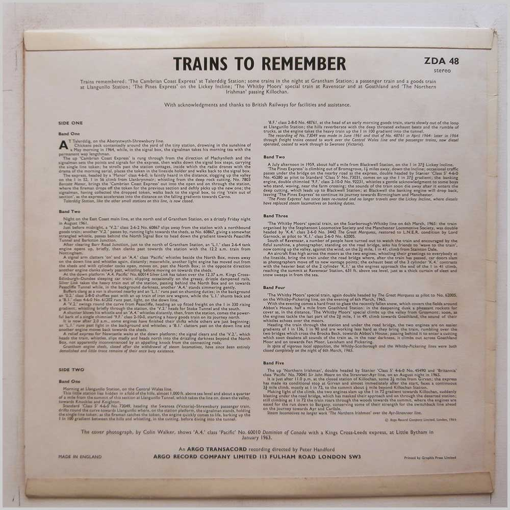Various - Trains To Remember (ZDA 48)